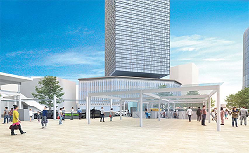 Monumento em frente à estação de Nagoya instalado em 1989 começa a ser removido